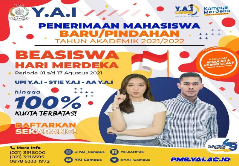 Penerimaan Mahasiswa Baru/Pindahan Tahun Akademin 2021/2022 Beasiswa Hari Merdeka