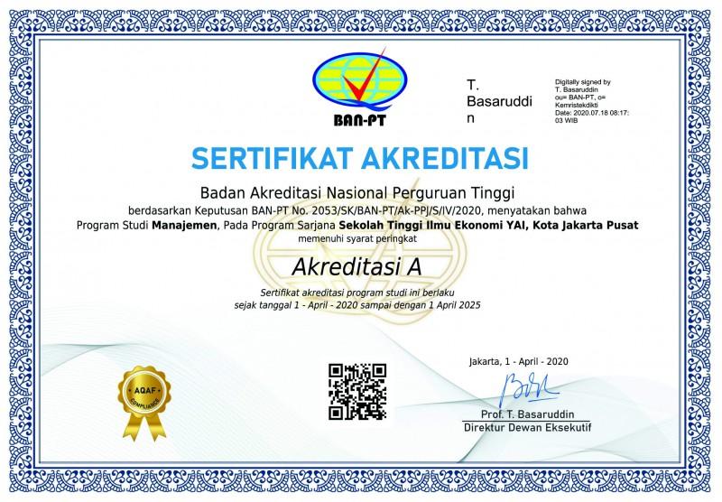 Akreditasi Manajemen S1